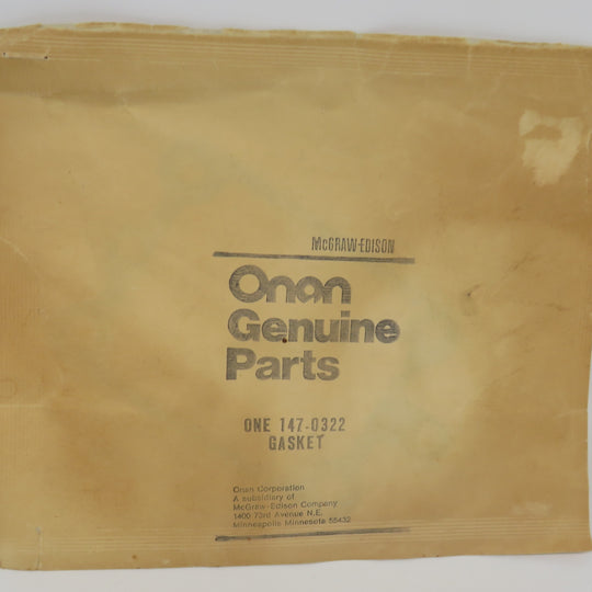 147-0322 Onan Gasket-INJ Pump Adapter