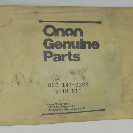 147-0388 Onan Shim Kit-Injection Pump Kit OBSOLETE For 6.0 & 7.5 kW MDJE Gensets (Spec AB-AF)