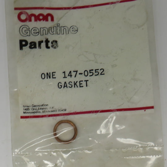 147-0552 Onan Gasket Delivery Valve For Injection System On DJE Genset Spec AB-AG OBSOLETE