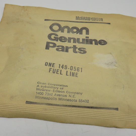149-0561 Onan Fuel Line OBSOLETE For AJ Genset Spec P (Begin Spec A through J) Gasoline Fuel System