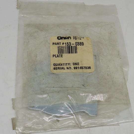 153-0389 Onan Choke Cover Plate OBSOLETE