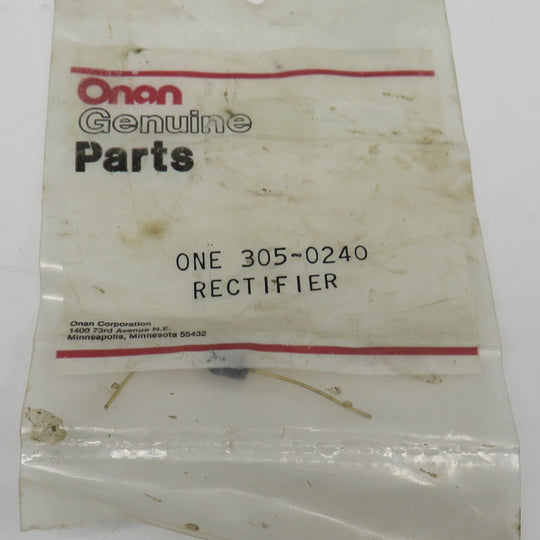 305-0240 Onan DIODE & LEAD-RECTIFIER-AVALANCHE OBSOLETE