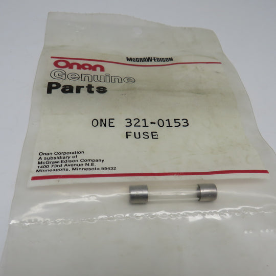 321-0153 Onan Fuse For RST 60/100 (Spec A) Automatic Transfer Panel Battery Charger 2 Amp, 12/24 Volt