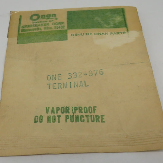 332-0876 Onan Terminal Tab for Thermo-Magnetic Choke on MCCK (Spec A-G) OBSOLETE