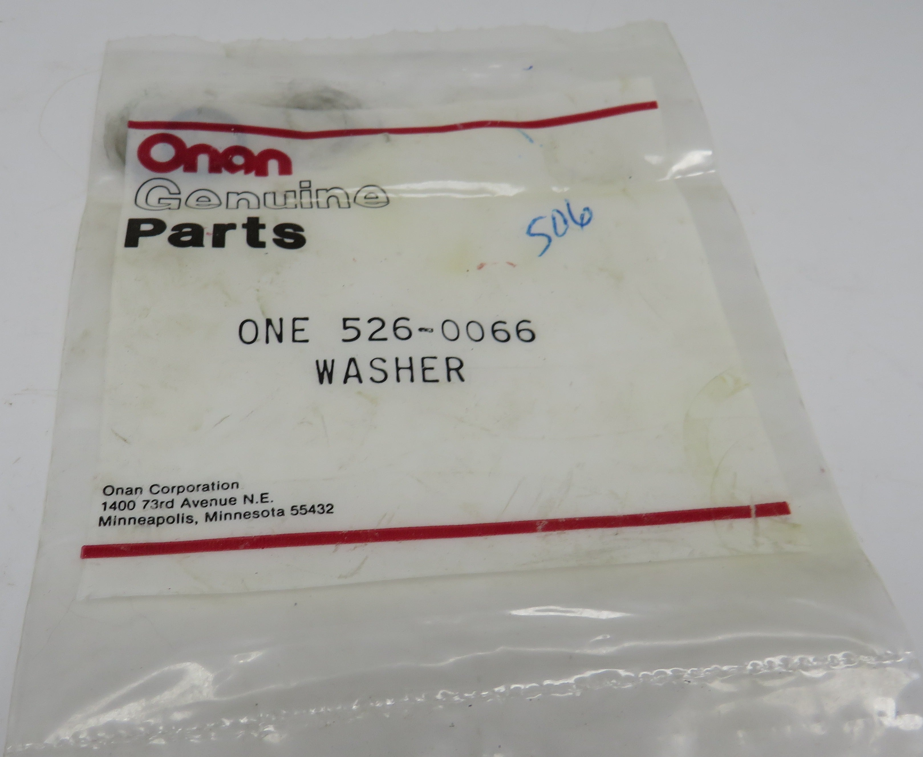 526-0066 Onan Secondary Fuel Filter Washer For MDJE Genset (Spec AB-AF)