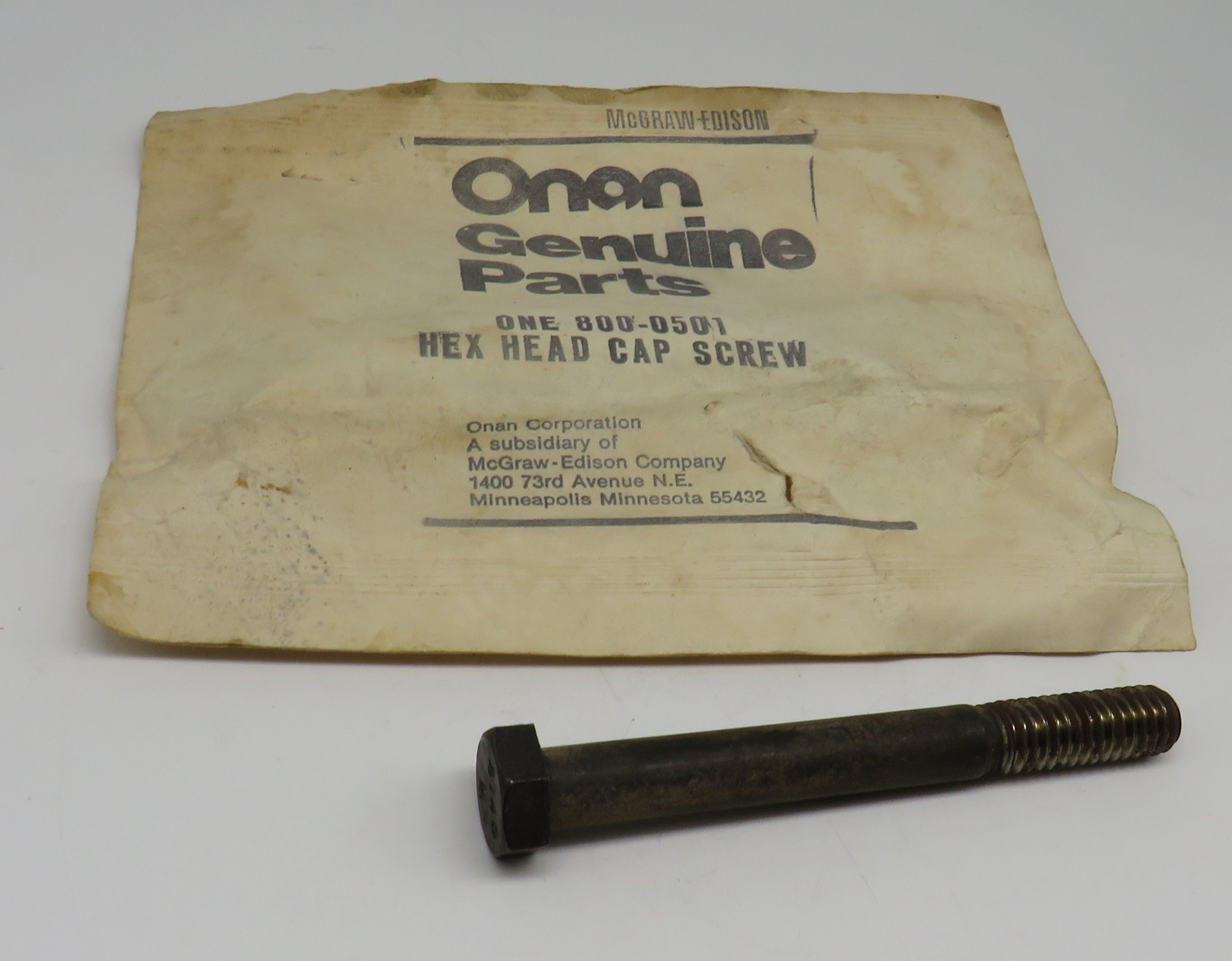 800-0501 Onan Screw-Hex Head Cap OBSOLETE