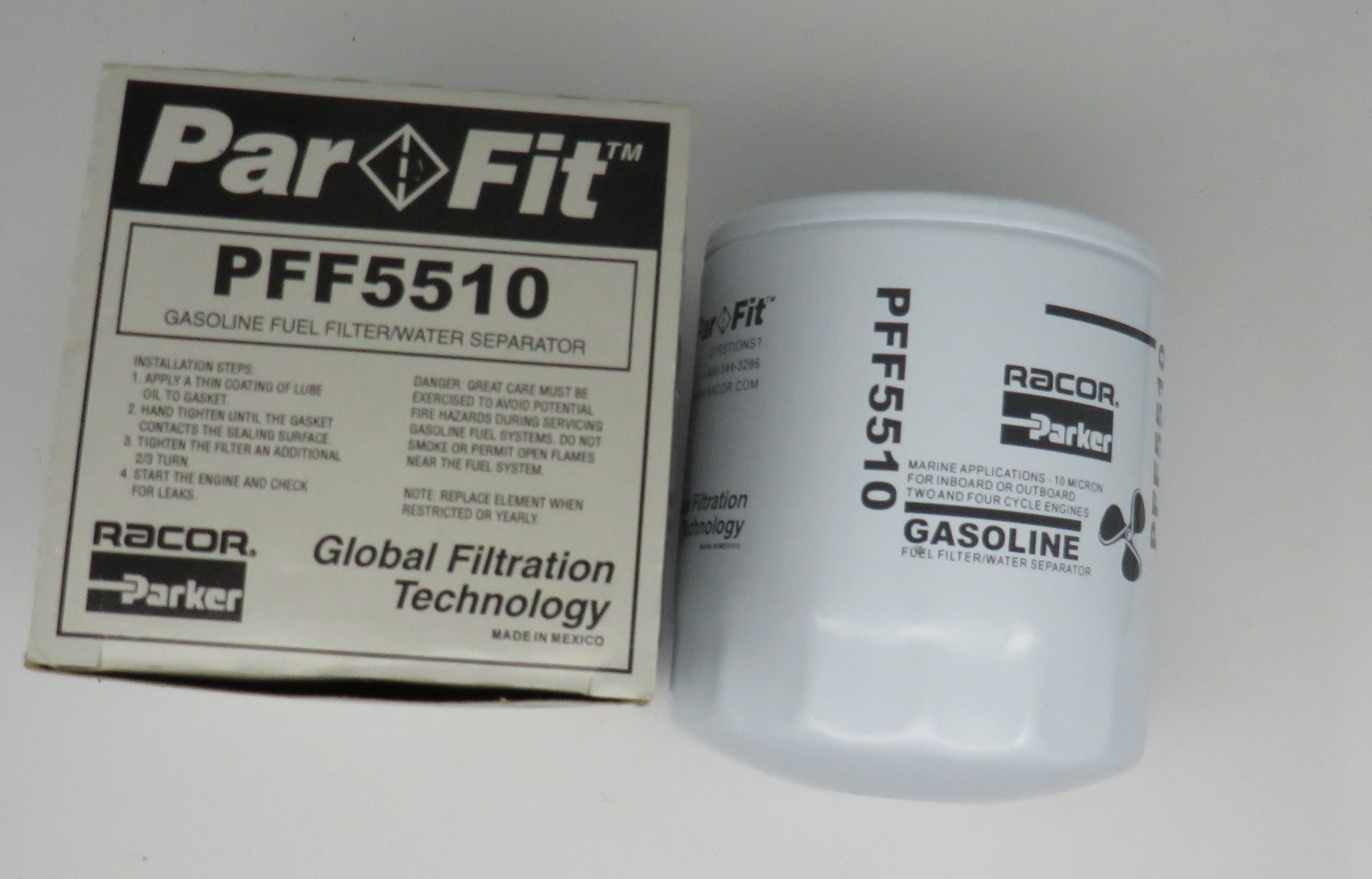 PFF5510 Racor Gasoline Fuel Filter/ Water Separator 10 Micron