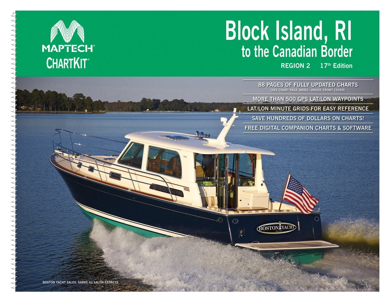 Block Island, RI to the Canadian Border Region 2, 17th Edition Richardson's Maptech Chartkit