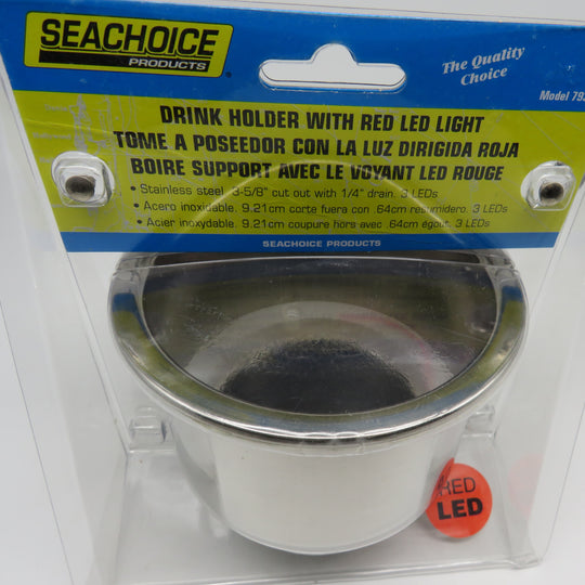 Seachoice Drink Holder With RED LED Light Model 79391