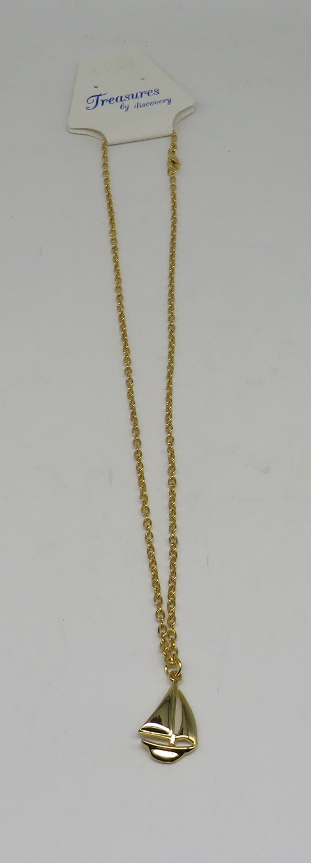 Sailboat Necklace Layered 24 Karat Gold