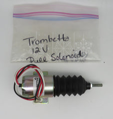 Trombetta Pull Solenoid P610B1V12 [F09514} (Replaces P610-A13V12) 12 Volt, 3 Wire (Red, White & Black) Includes Boot