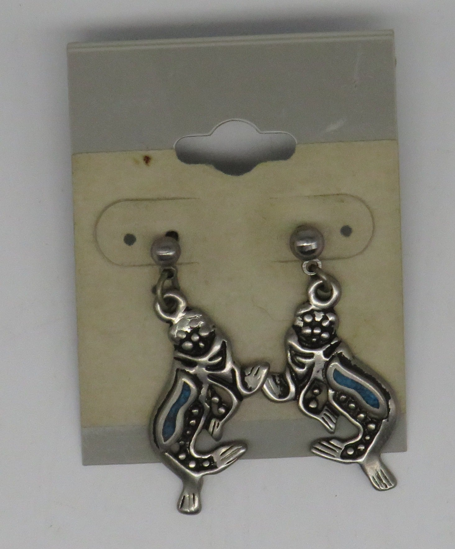 Genuine Turquoise Nautical Sealife Earrings Seals