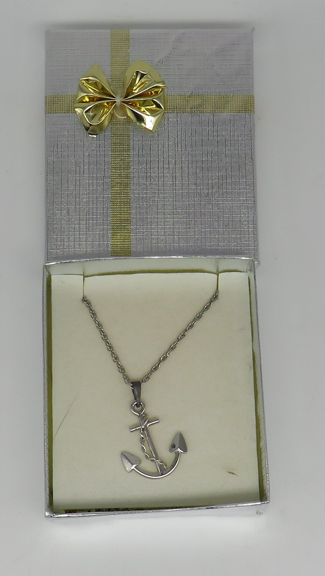 Sterling Silver Large Anchor Necklace 20