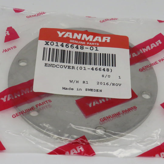 X0146648-01 Yanmar End Cover Plate (01-46648) This superceded 370-119175-42560