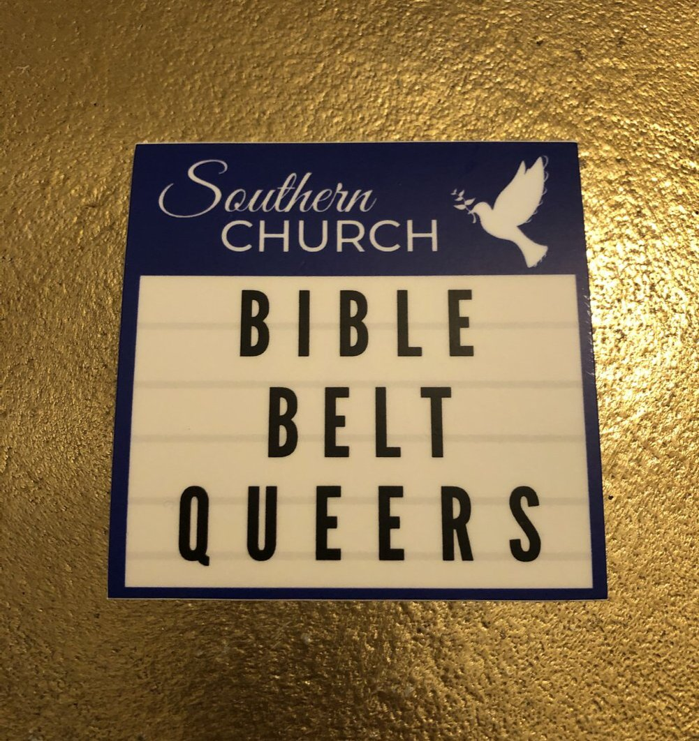 Bible Belt Queers Church Marquee Sticker