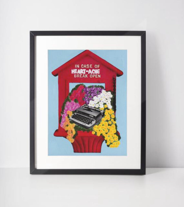 In Case Of Heartache Typewriter Print