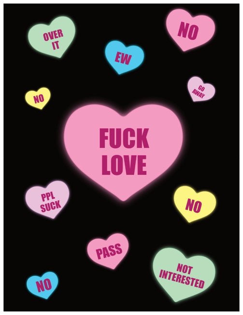 5 Pack : Anti Valentine's Day Card