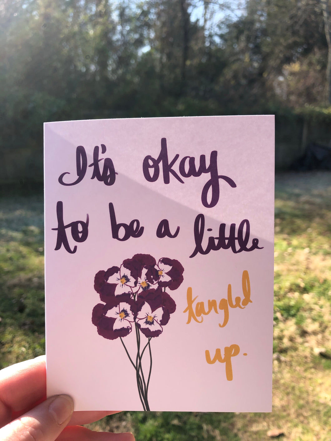 10 Pack : It's Okay to be a Little Tangled Up Card