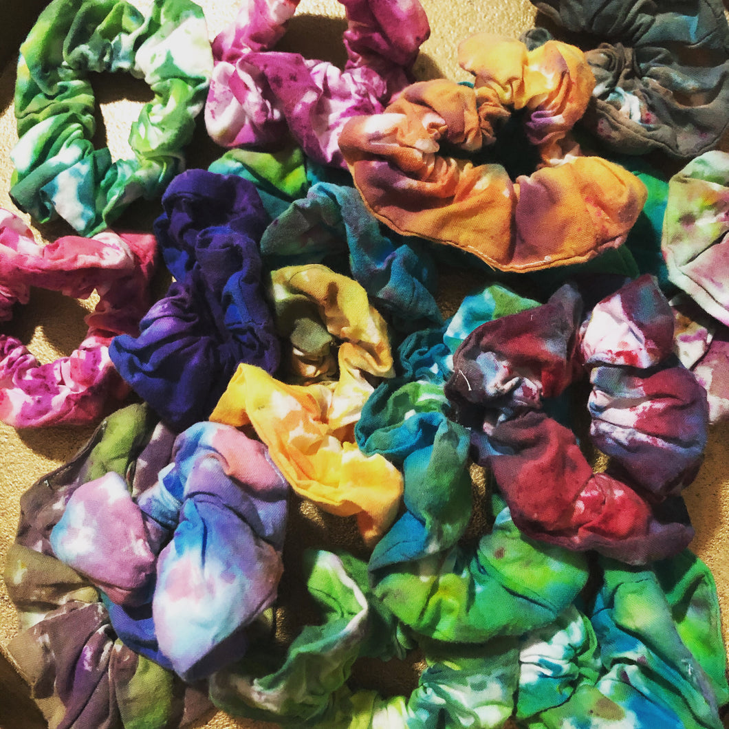 Hand-Dyed Scrunchie