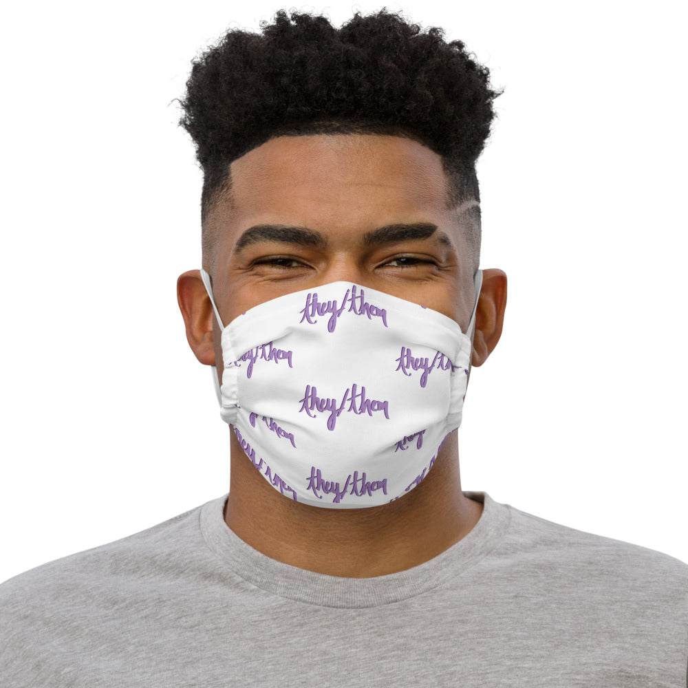 They Them Pronoun Face mask