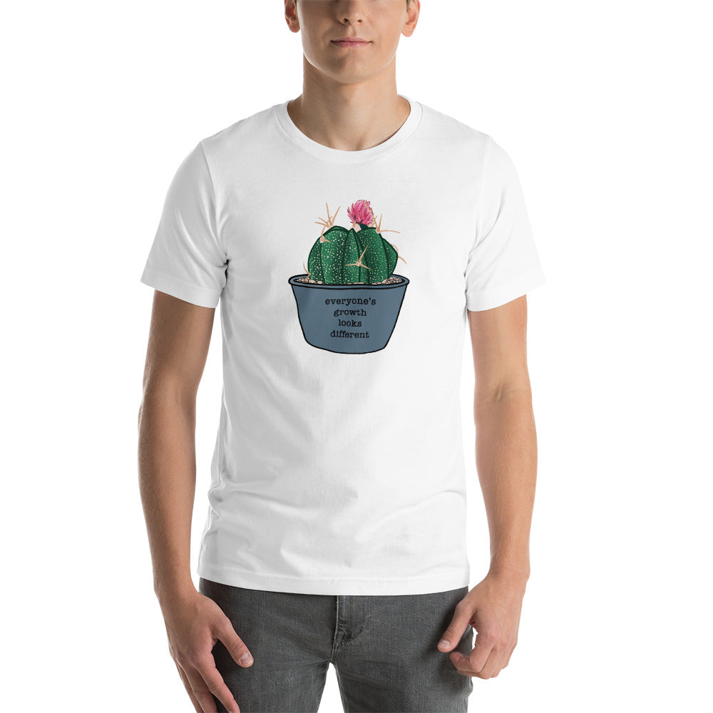 Everyone's Growth Looks Different Succulent Unisex T-Shirt