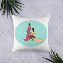 Load image into Gallery viewer, WAP Cardi B & Megan Thee Stallion Silhouette Pillow