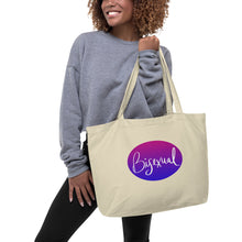 Load image into Gallery viewer, Bisexual Pride Large organic tote bag