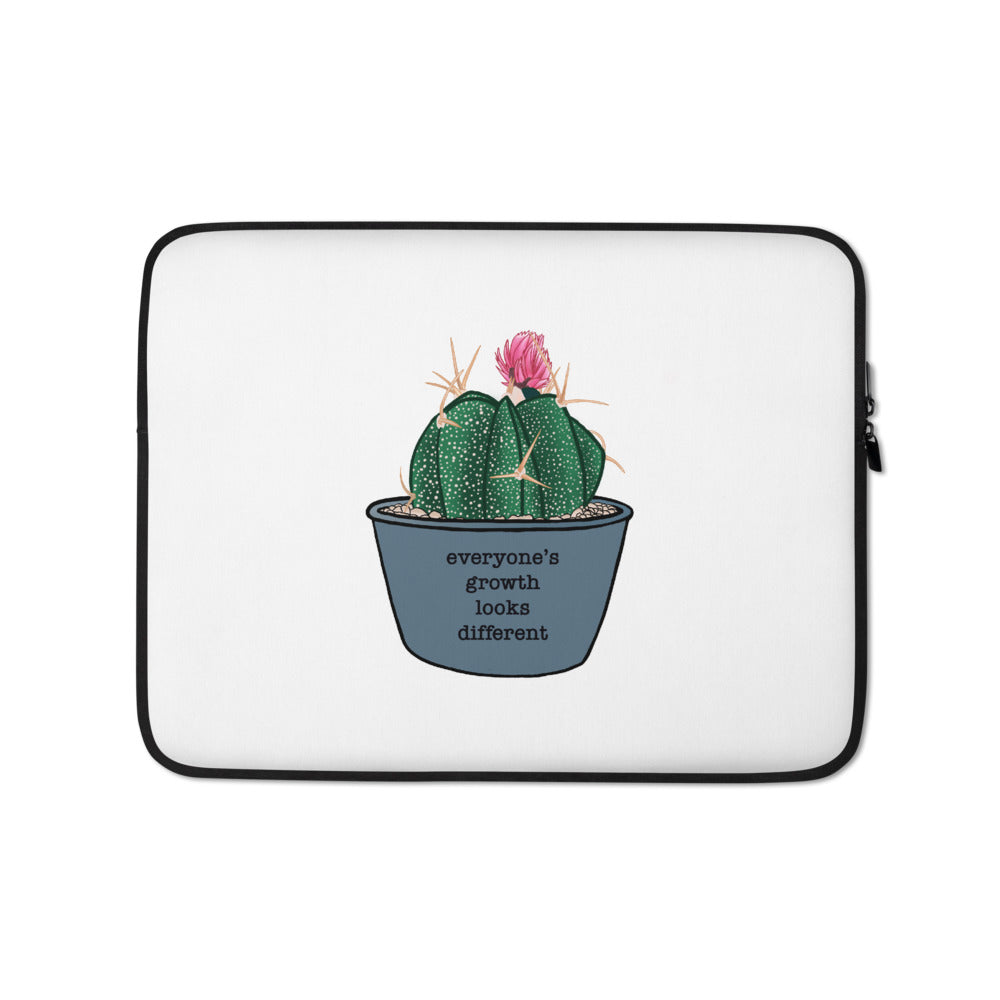 Everyone's Growth Looks Different Laptop Sleeve