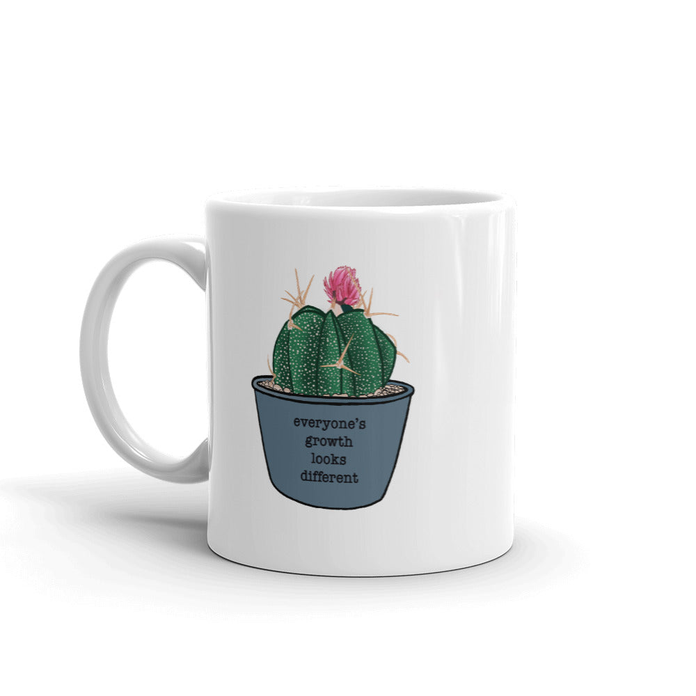 Everyone's Growth Looks Different Succulent Mug