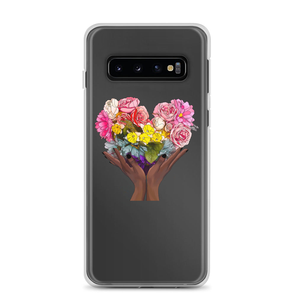 Floral Rainbow  Heart Samsung Case
