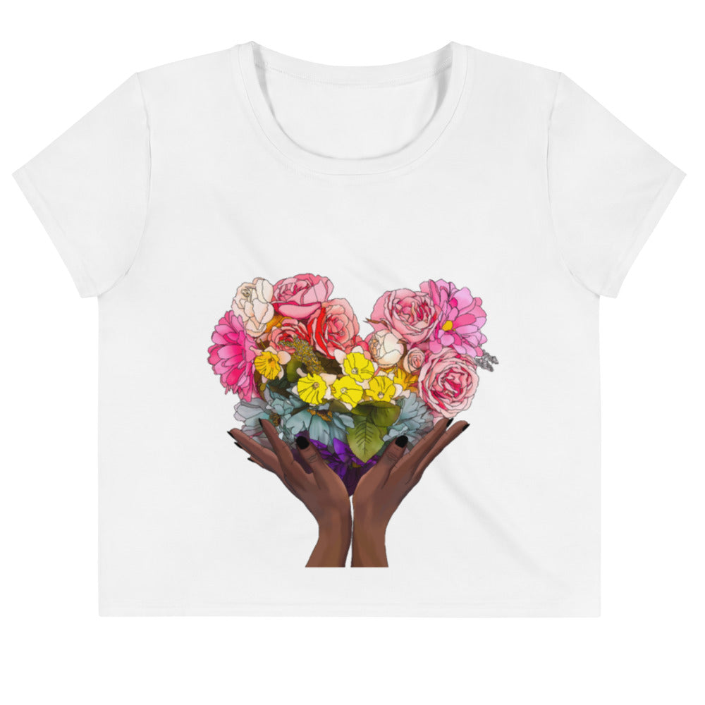 Flora Rainbow Heart Crop Top
