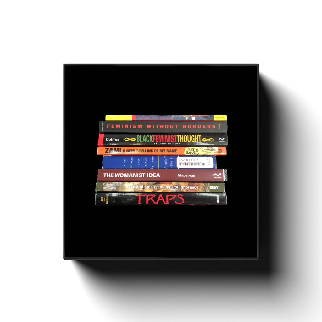 Black Feminist & Womanist Book Stack Canvas Print