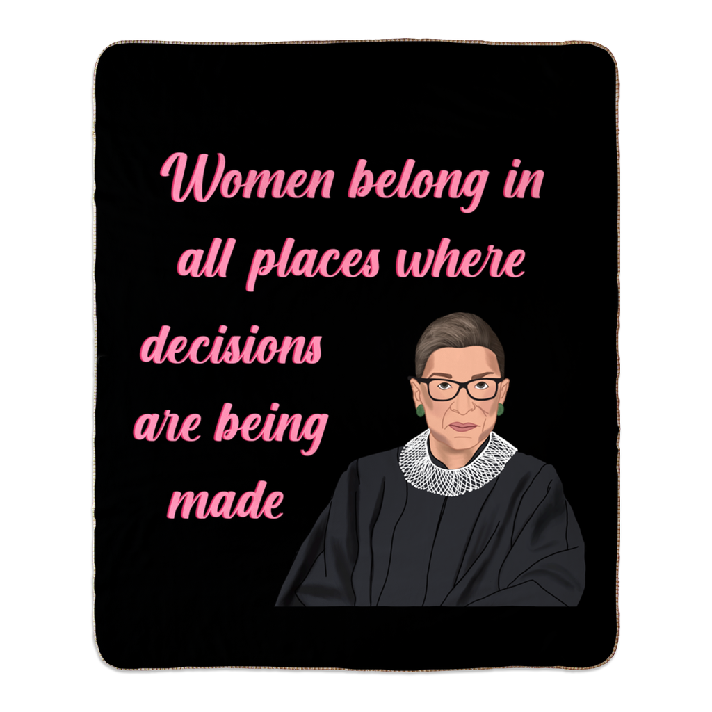 Fleece Sherpa Blankets : Rbg Ruth Bader Ginsburg Quote