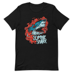 Load image into Gallery viewer, Zombie Shark | Short Sleeve Men's T-Shirt - Black