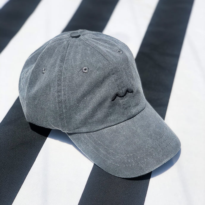 BUS Charcoal Hat - Black Wave