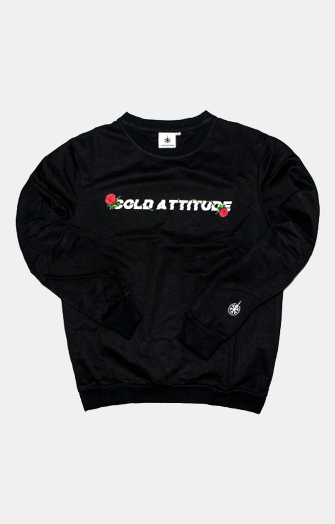 Digital Rose Long Sleeve - Charcoal Black - COLD ATTITUDE TORONTO