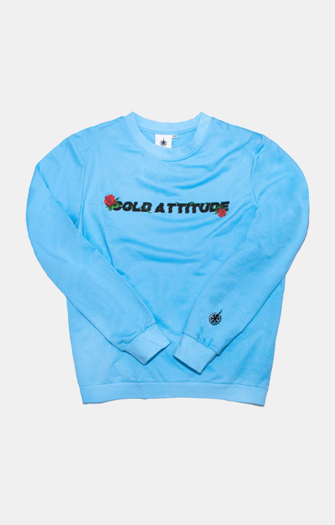 Digital Rose Long Sleeve - Sky Blue - COLD ATTITUDE TORONTO