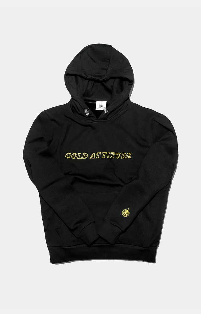 Yellow Mode Velvet Hoodie - COLD ATTITUDE TORONTO