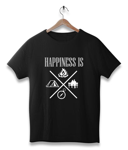 Happiness Is (Travel / Adventure T-Shirt)