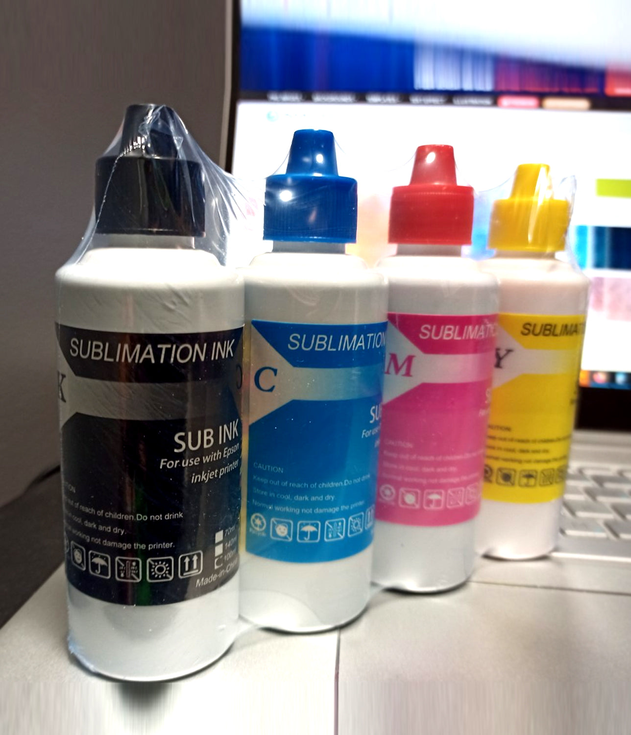 Premium Sublimation Ink (CMYK) SET / 100ml x 4