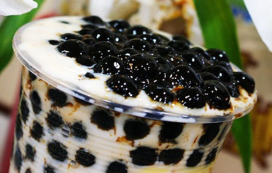 Black Tapioca Pearls: (JUMBO size  commercial grade: 3 kg bag)