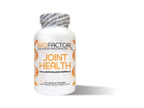 white bottle with the words Joint Health printed in orange lettering