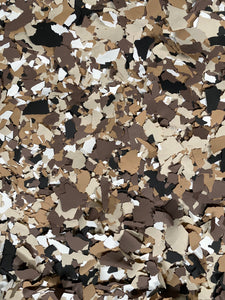 "30 Lbs. of 1"" Espresso Paint Chips (Big Paint Chips)"