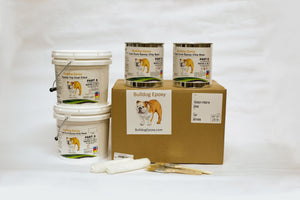 1 Car Garage Epoxy Kit Nutmeg 1/4""
