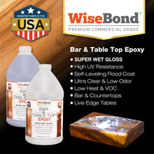 Load image into Gallery viewer, WiseBond 1 Gal Bar & Table Top Epoxy Kit
