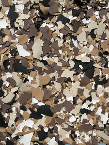 "50 Lbs. of 1"" Mocha Paint Chips (Big Paint Chips)"