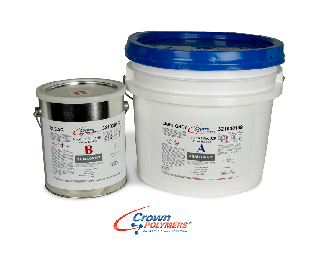 CrownShield 320F Epoxy Base Light Grey 3 Gal Kit