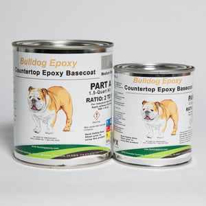 Bulldog Epoxy 1.5 Qt. Countertop Kit Medium Grey