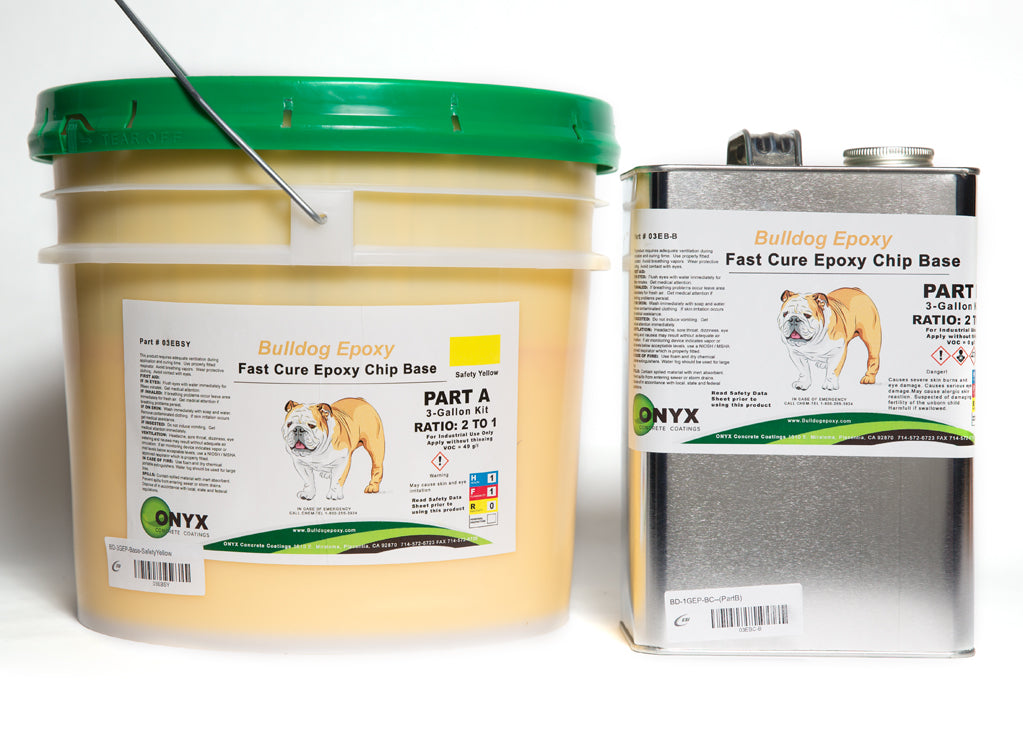Bulldog Epoxy Base Safety Yellow 3 Gal Kit