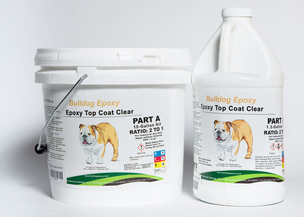 Bulldog Epoxy Top Coat Clear 1.5 Gal Kit